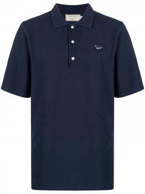 Рубашка поло с нашивкой Maison Kitsuné. Цвет: синий