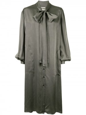 Платье-рубашка с бантом Uma Wang. Цвет: серый