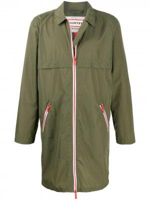 Непромокаемое пальто на молнии Hunter. Цвет: зеленый