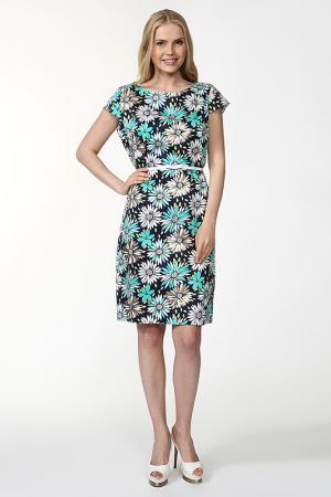 Платье с ремнем MY TWINS. Цвет: мультицвет