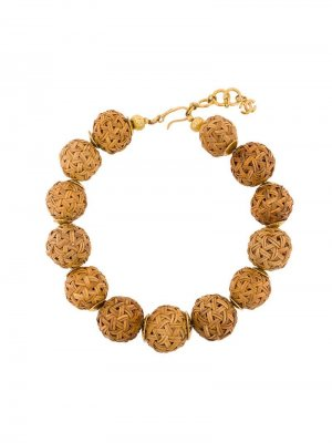 Ожерелье с бусинами Chanel Pre-Owned. Цвет: нейтральные цвета