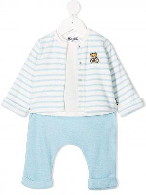 Спортивный костюм Teddy Bear Moschino Kids. Цвет: белый