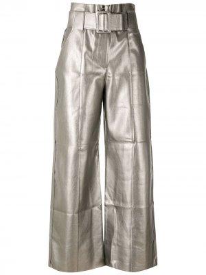 Расклешенные брюки с поясом Eva. Цвет: золотистый