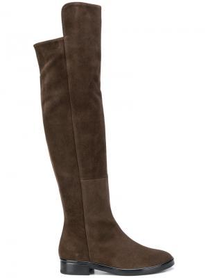Knee high suede boots Marc Ellis. Цвет: коричневый