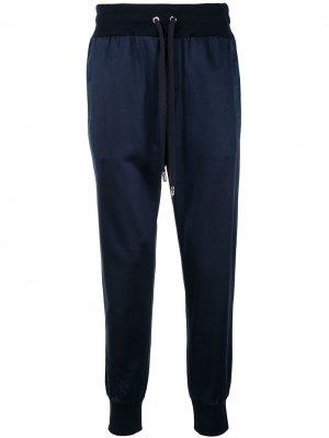Спортивные брюки с кулиской Dolce & Gabbana. Цвет: синий