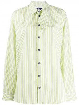 Рубашка оверсайз в полоску Natasha Zinko. Цвет: желтый