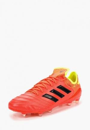 Бутсы adidas. Цвет: красный