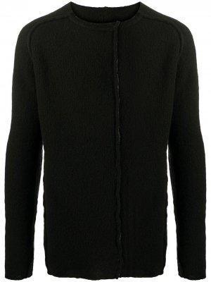 Пуловер с эффектом потертости Masnada. Цвет: черный