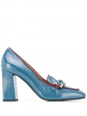 Туфли-лодочки с цепочкой Pollini. Цвет: синий
