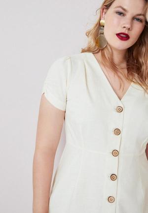 Платье Violeta by Mango. Цвет: белый