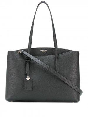 Большая сумка-тоут Margaux Kate Spade. Цвет: черный