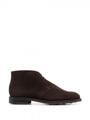 Ботинки дезерты на шнуровке Crockett & Jones. Цвет: коричневый