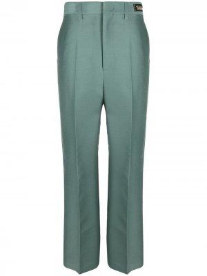 Прямые брюки We11done. Цвет: зеленый