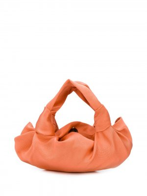 Атласная сумка-тоут Ascot The Row. Цвет: оранжевый
