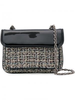 Embroidered shoulder bag Rodo. Цвет: черный