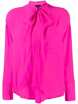 Блузка с бантом Jejia. Цвет: розовый