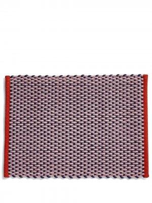 Плетеный придверный коврик Hay. Цвет: розовый