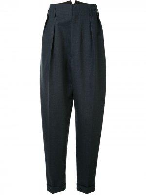 Зауженные брюки свободного кроя Maison Margiela. Цвет: синий