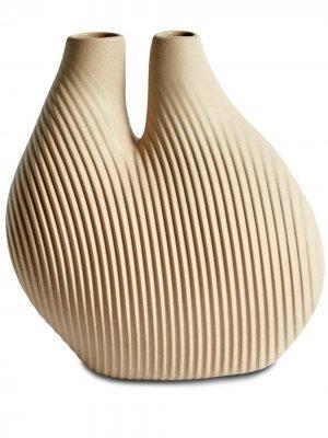 Ваза Chamber с гравировкой (22 см) Hay. Цвет: нейтральные цвета