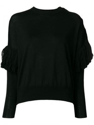 Ruffle detail sweater Nude. Цвет: черный