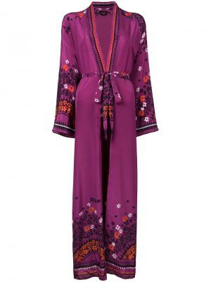 Длинный халат Holland Street. Цвет: розовый и фиолетовый