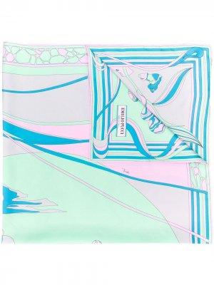 Платок Mirei с принтом Emilio Pucci. Цвет: синий