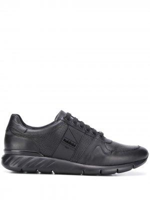 Кроссовки на шнуровке Baldinini. Цвет: черный
