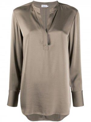 Блузка-трапеция с длинными рукавами Filippa K. Цвет: серый