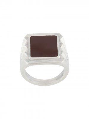 Серебряный перстень Bottega Veneta. Цвет: серебристый