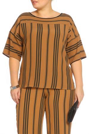 Рубашка-блузка Elena Miro. Цвет: коричневый