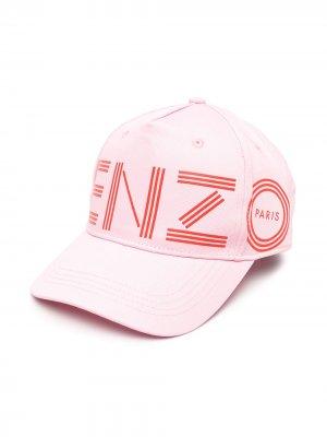 Бейсболка с логотипом Kenzo Kids. Цвет: розовый