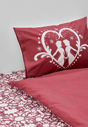 Постельное белье 1,5-спальное Disney. Цвет: бордовый