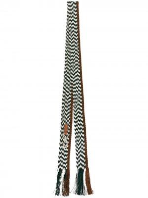 Подтяжки с кисточками Jil Sander. Цвет: зеленый