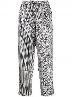 Прямые брюки с принтом Pierre-Louis Mascia. Цвет: белый