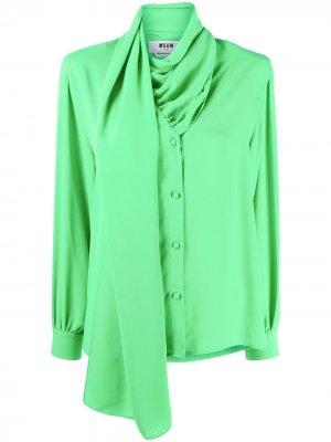Блузка с завязками MSGM. Цвет: зеленый