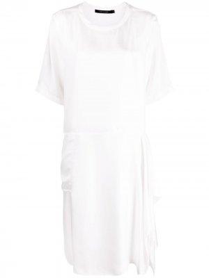 Sofie Dhoore платье-трапеция с короткими рукавами D'hoore. Цвет: белый