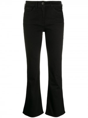 Расклешенные укороченные джинсы 3x1. Цвет: черный