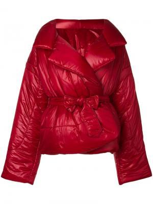 Дутая куртка свободного кроя Norma Kamali. Цвет: красный