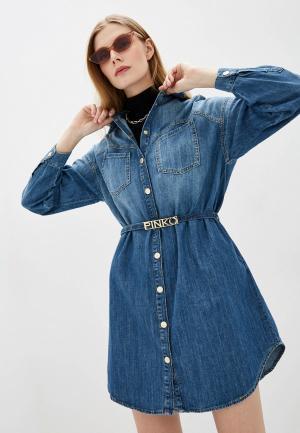 Платье джинсовое Pinko. Цвет: голубой