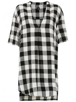 Plaid dress Osklen. Цвет: черный