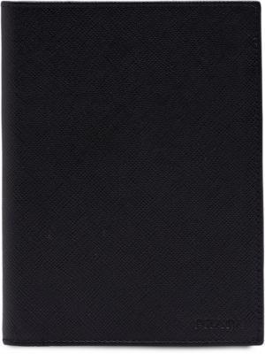 Обложка для паспорта Prada. Цвет: черный