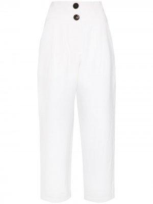 Укороченные брюки с завышенной талией Nackiyé. Цвет: белый