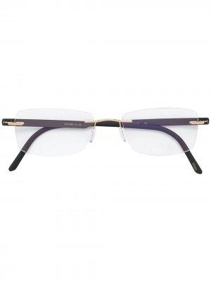 Прямоугольные очки Silhouette. Цвет: черный
