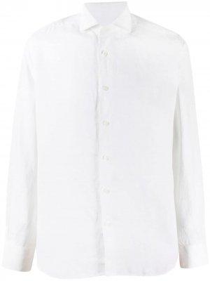 Рубашка с длинными рукавами Corneliani. Цвет: белый
