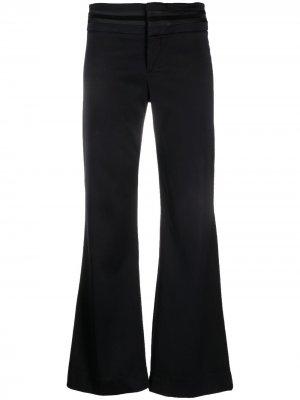 Расклешенные брюки 1990-х годов с полосками Gucci Pre-Owned. Цвет: синий