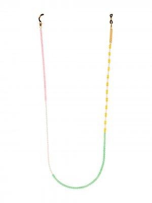 Цепочка для очков Candy Lace с бусинами Frame Chain. Цвет: желтый
