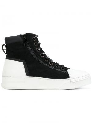 Хайтопы на шнуровке Bruno Bordese. Цвет: чёрный