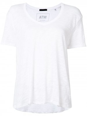 Базовая футболка Atm Anthony Thomas Melillo. Цвет: белый
