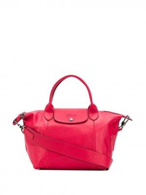 Сумка-тоут Le Pliage Cuir Longchamp. Цвет: розовый