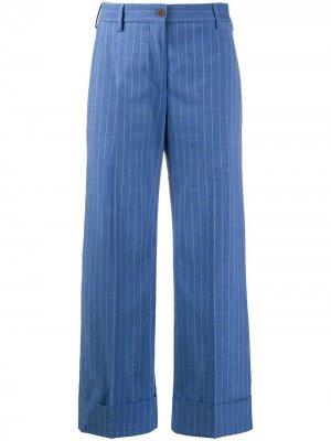 Полосатые брюки с подворотами Brag-wette. Цвет: синий